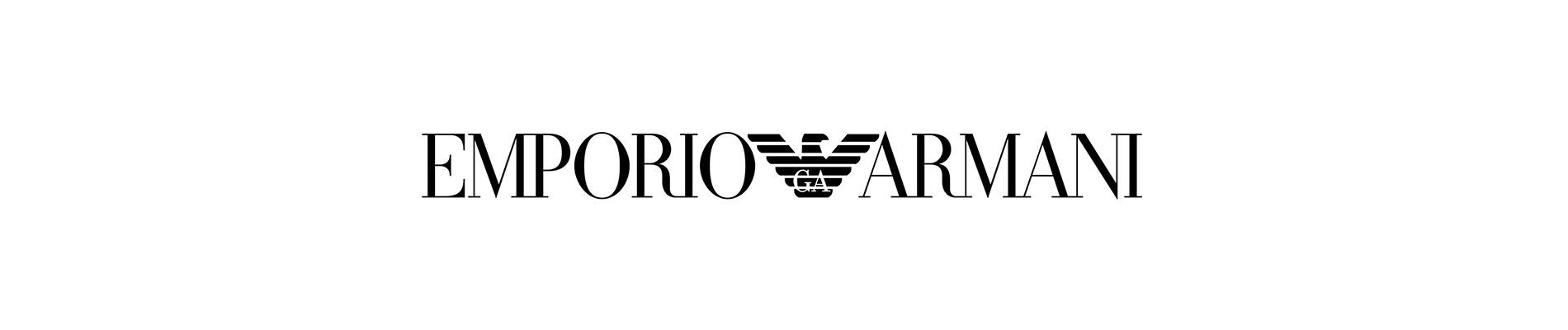 emporio armani designer frames header logo